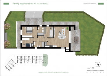 Planimetria appartamento Family